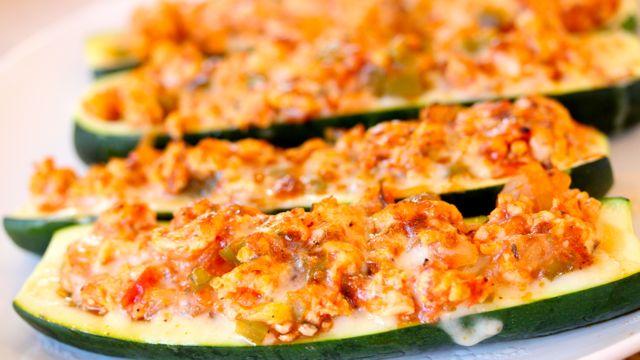 Turkey Stuffed Zucchini Boats Recipe | Yummly