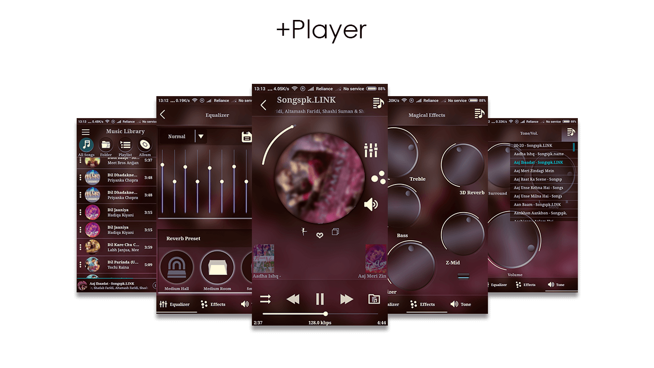 Fx Music Player + Equalizer Screenshot 1