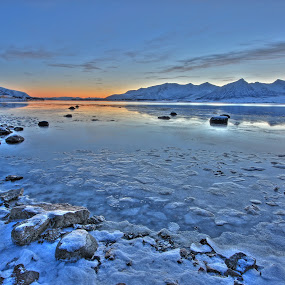 A cold winter day by Kenneth Pettersen - Landscapes Waterscapes