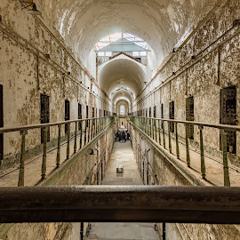 Hallway by Michael Holmes - Buildings & Architecture Decaying & Abandoned ( eastern state penitentiary, prison, ruin, jail )
