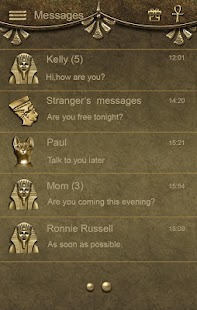 Egypt Go SMS Theme - screenshot