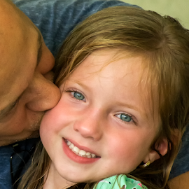 Daddy love his little girl. by Joe Saladino - People Family ( famly, father, man, girl, daughter, child )