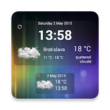 Weather & Clock Widget