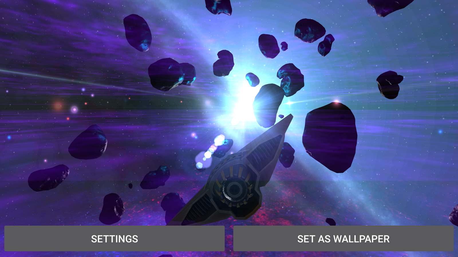 Alien Galaxy 3D Live Wallpaper Screenshot 8