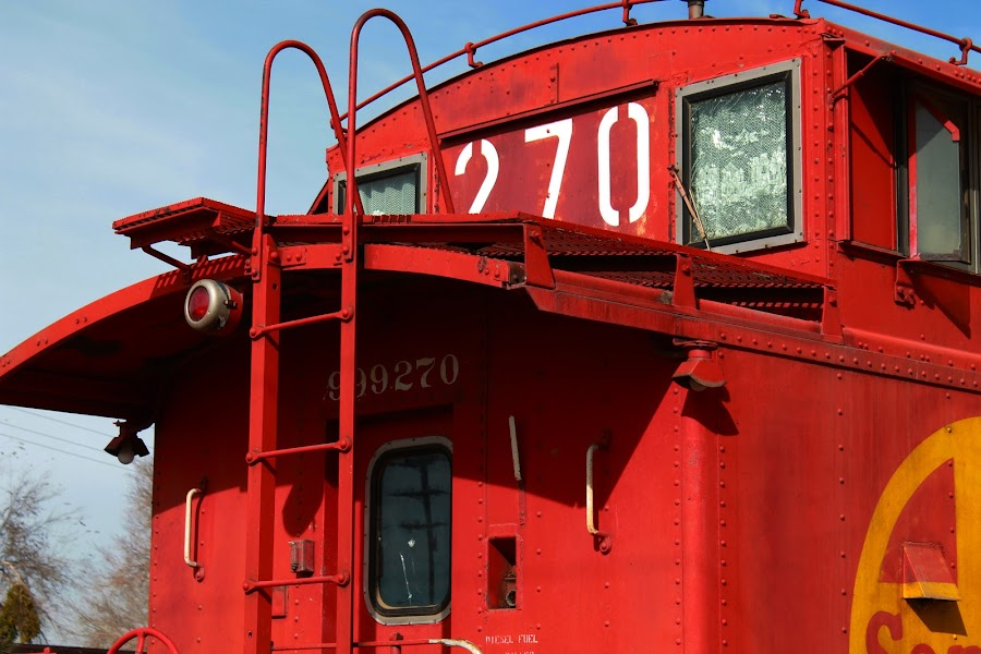 Caboose by Jay Woolwine Photography - Products & Objects Industrial Objects ( red, caboose, train, santa fe, train end )