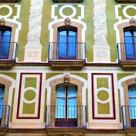 The blue windows by Svetlana Saenkova - Buildings & Architecture Architectural Detail ( blue, windows, rows,  )