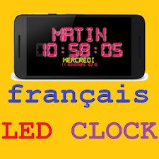 France Night LED Clock
