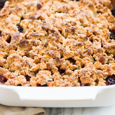 Blackberry Cardamom Peach Crisp