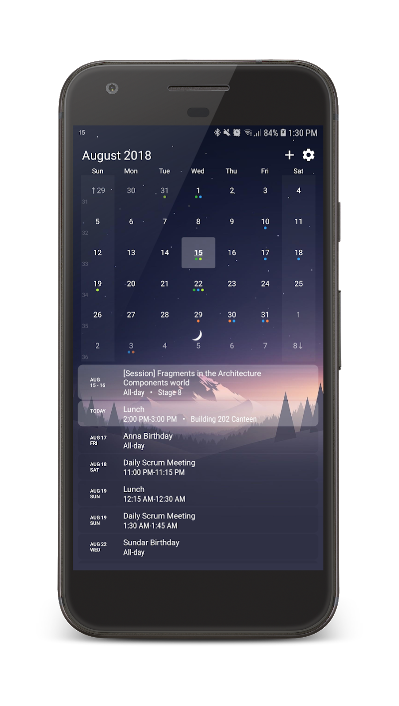 Your Calendar Widget Screenshot 0