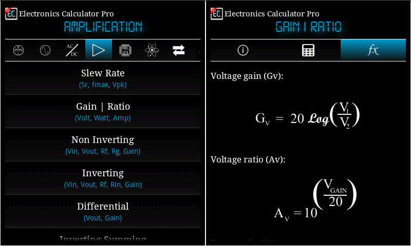 Electronics Calculator Pro Screenshot 16