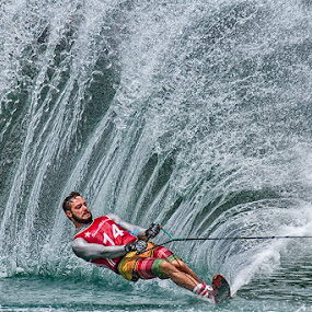 Matteo! by Henrik Spranz - Sports & Fitness Watersports ( ski, water, spray, colorful, colors, pro, action, sports )