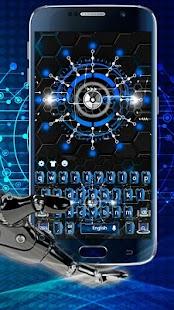Free Glowing Robotic Technology Keyboard APK for Windows 8