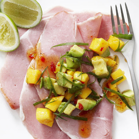 Ham with Avocado and Mango Salsa