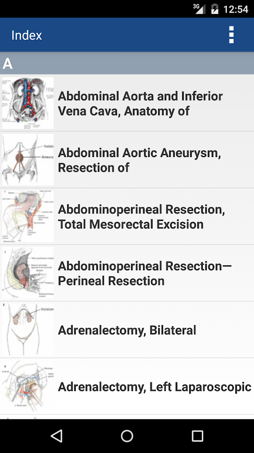 Zollinger's Atlas of Surgery Screenshot 2