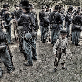 Civil War comes to Zoar by James Rudick - People Portraits of Men ( hdr, soldiers, civil war, portrait, boy, re-enactment, zoar )