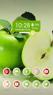 Crisp green apple theme - screenshot
