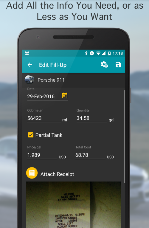 Fuel Buddy - Car Mileage Log Screenshot 12