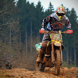 Clumps Everywhere by Marco Bertamé - Sports & Fitness Motorsports ( mud, bike, rainy, motocross, clumps, race, competition )