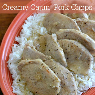 Crock Pot Creamy Cajun Pork Chops