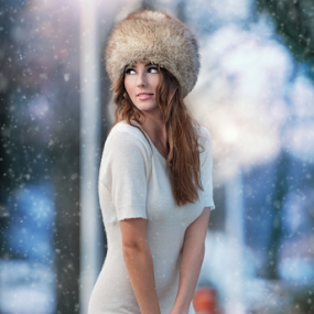 by Iancu Cristi - People Fashion ( one woman only, face, fashion, model, seasonal, clothing, makeup, joy, fairy, snowflake, beauty, cute, pretty, feather, glamor, caucasian, fantasy, sexy, girl, cold, attractive, happy, woman, flake, lifestyle, snow, glamorous, grey, eye, cool, wild, xmas, beautiful, christmas, expressing positivity, forest, happiness, gloves, adult, young, portrait, holiday, december, princess, winter, eyelash )