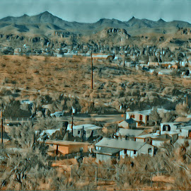 Mountains Over Kingman by Johnny Knight - Novices Only Landscapes ( nature, art, travel, town )