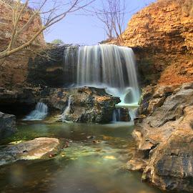 THE BREAK by Dana Johnson - Landscapes Waterscapes ( stream, waterscape, cascade, falls, waterfall, landscape )