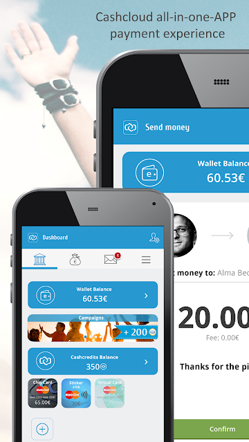 Cashcloud Wallet screenshots