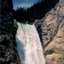Yellowstone Park by Sarah Harding - Novices Only Landscapes ( nature, waterfall, outdoors, novices only, landscape )