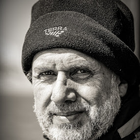 Captain, my Captain by Vassilios Zacharitsev - People Portraits of Men ( old, headshot, black and white, male, portrait, captain )
