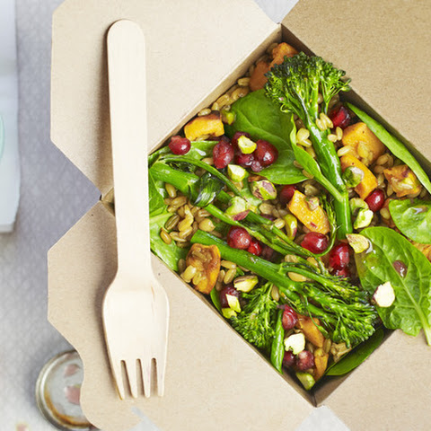 Roasted Sweet Potato, Pistachio And Pomegranate Salad