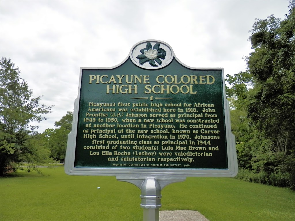 Picayune's first public high school for African Americans was established here in 1918. John Prentiss (J.P.) Johnson served as principal from 1943 to 1950, when a new school was constructed at ...