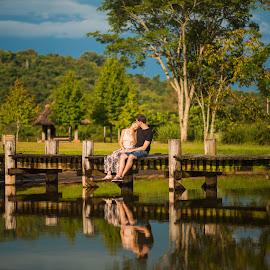 Daiane e Cristiano | Ensaio Pré-Casamento by Yul Barbosa - People Couples ( reflexo, ecoland, couple, espelho dágua, casal )