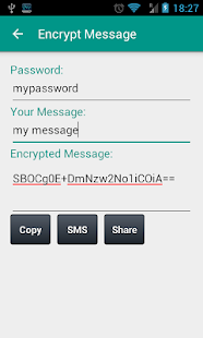 Cryptical Messaging - screenshot