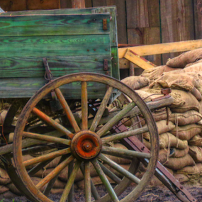 Old Days by Jeannie Love - Artistic Objects Antiques ( 1800, wagon, era, antique, movie props )