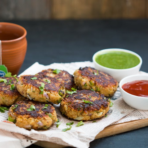 Healthy Peas Potato & Paneer Tikki