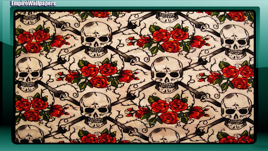 Skull And Roses Wallpaper - screenshot