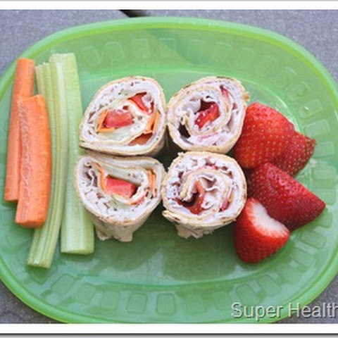 Crunchy Cucumber and Turkey Wrap