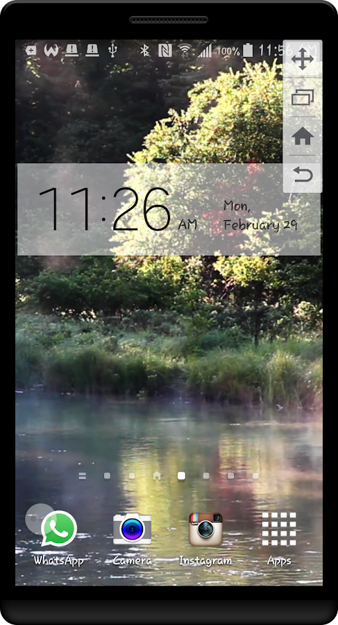 Peaceful River HD LWP Screenshot 3