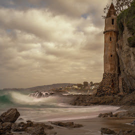Castle on the Beach by Matt Reynolds - Landscapes Waterscapes