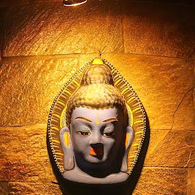 Budhha statue Nepal by Satyam Joshi - Abstract Fine Art ( gangnam style, face, nepalgunj, gangnam, spain, satyam, kathmandu, statue, fine arts, australia, barcelona, sydney, nepal )