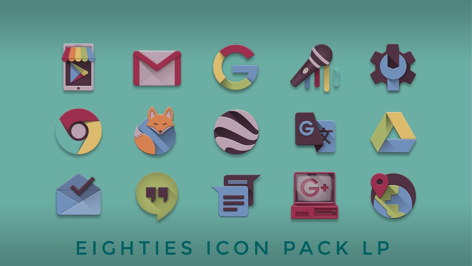 Eighties retro fun icon pack Screenshot 2