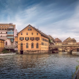 Pont Saint Martin by Ole Steffensen - City,  Street & Park  Neighborhoods ( pont saint martin, la petite france, river ill, france, alsace, strasbourg )