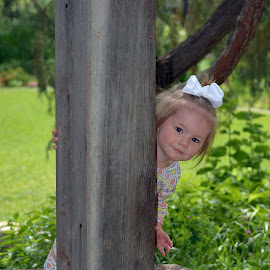 peekaboo by Angie Arnold - Babies & Children Toddlers ( toddler, outdoors, playing, girl, peekaboo )