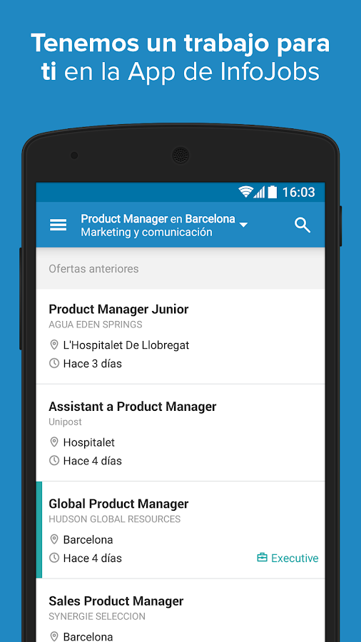 InfoJobs - Job Search Screenshot