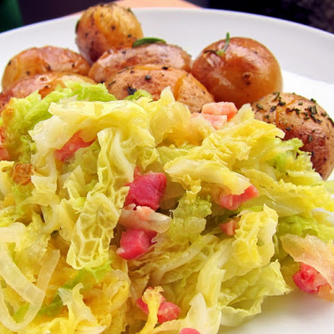 Beer Braised Cabbage with Bacon - pressure cooker