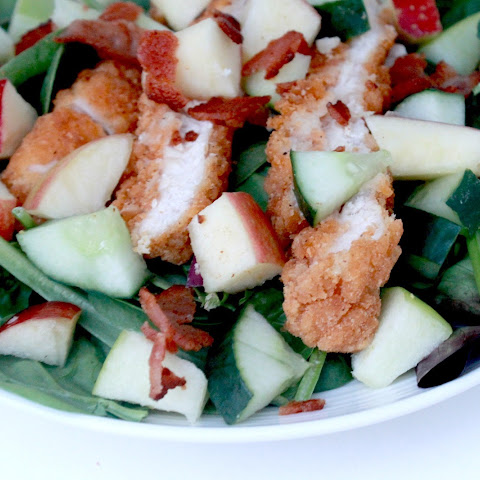Crispy Chicken Apple Salad with Bacon