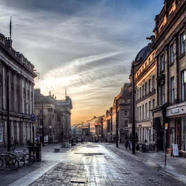 by Adam Lang - City,  Street & Park  Street Scenes ( england, newcastle )