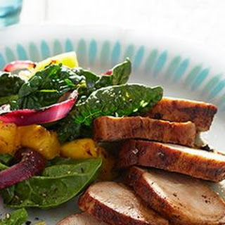 Spice-Rubbed Pork Tenderloin with Pineapple and Spinach Salad