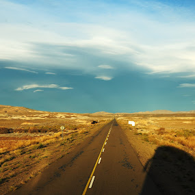 Pampa by My 1st Impressions - Landscapes Deserts ( argentina, patagonia, pampa, road )