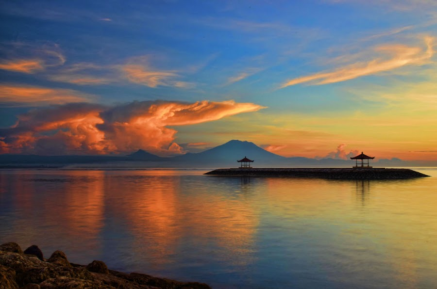 Two Gazebo by Gunk Satria - Landscapes Waterscapes